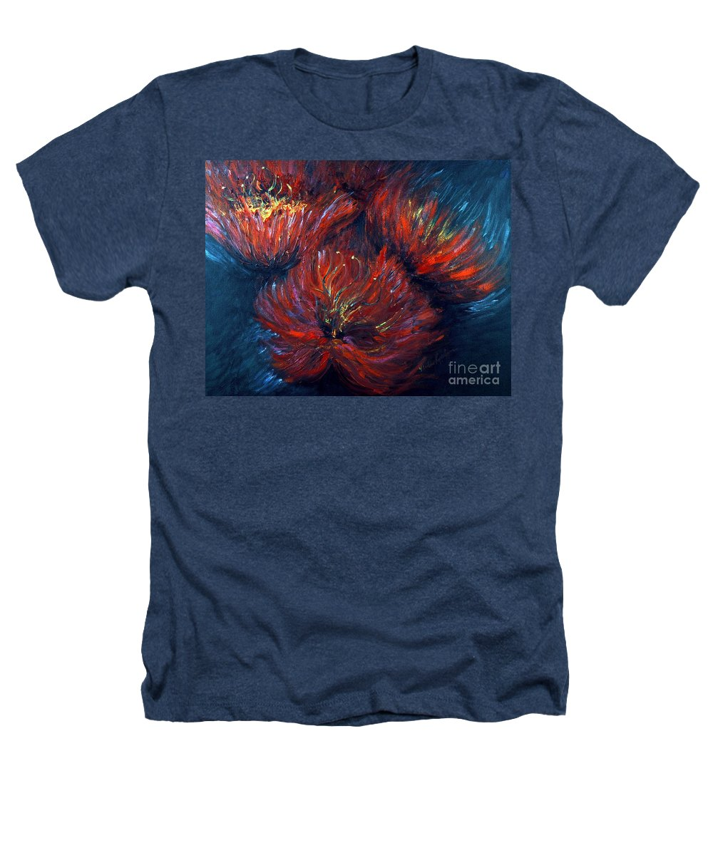 Abstract Heathers T-Shirt featuring the painting Fellowship by Nadine Rippelmeyer