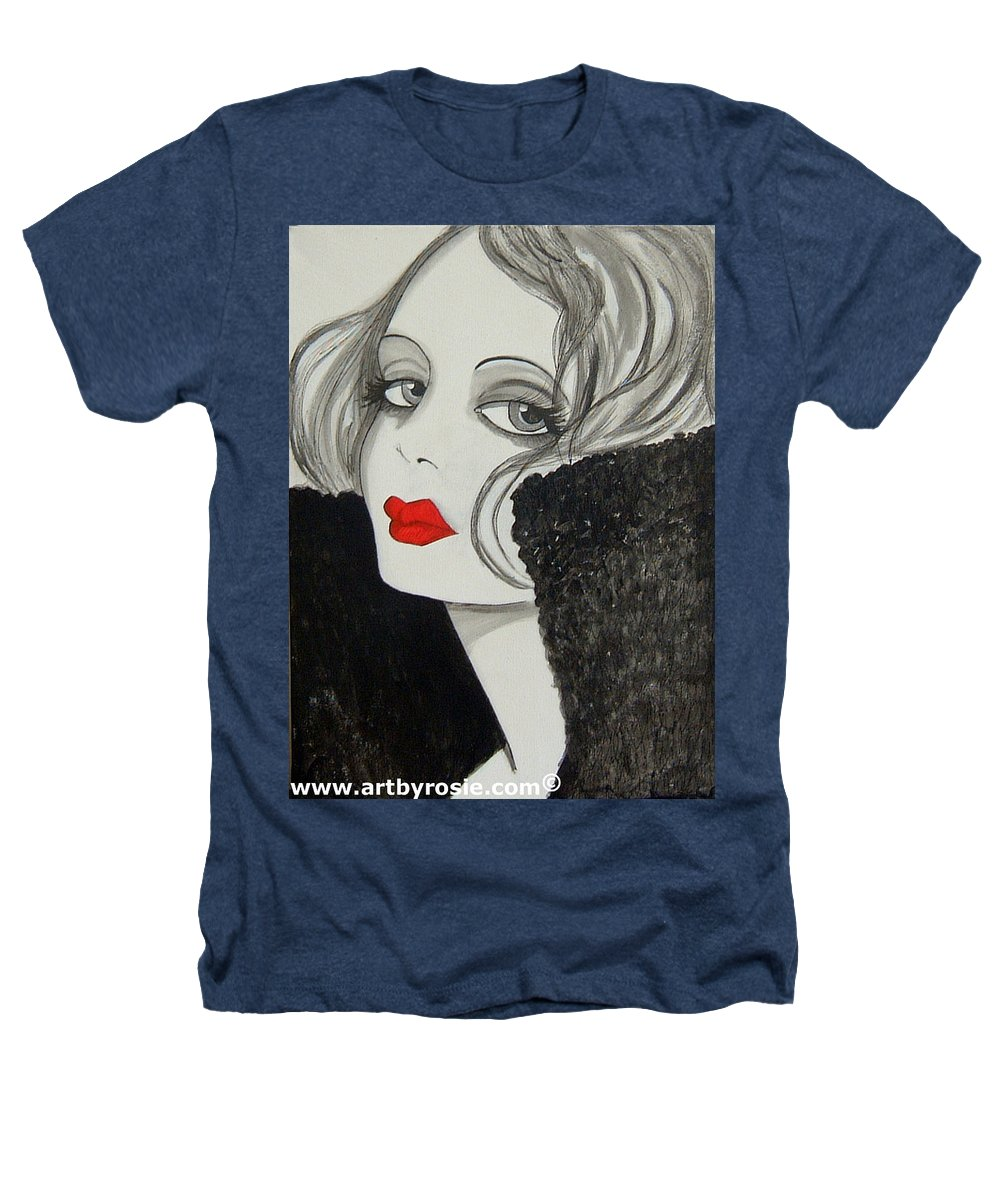 Cinema Heathers T-Shirt featuring the painting Femme Fatale by Rosie Harper