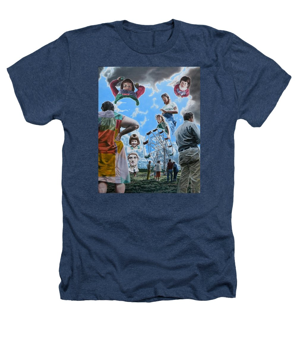 Woman Heathers T-Shirt featuring the painting Ferris Wheel by Dave Martsolf
