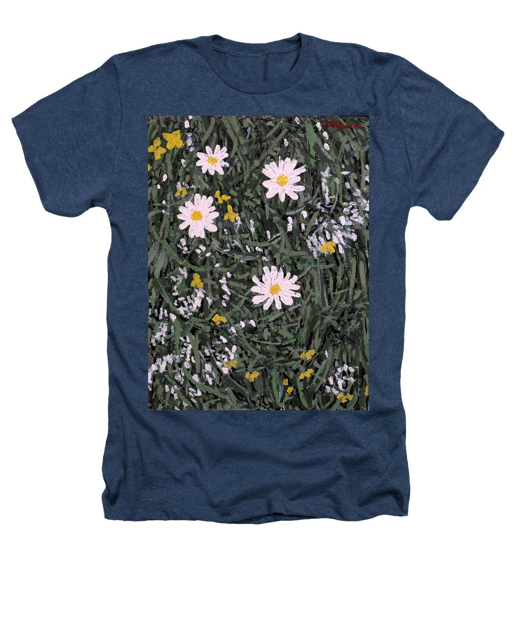 Daisies Heathers T-Shirt featuring the painting Field Daisies by Ian MacDonald