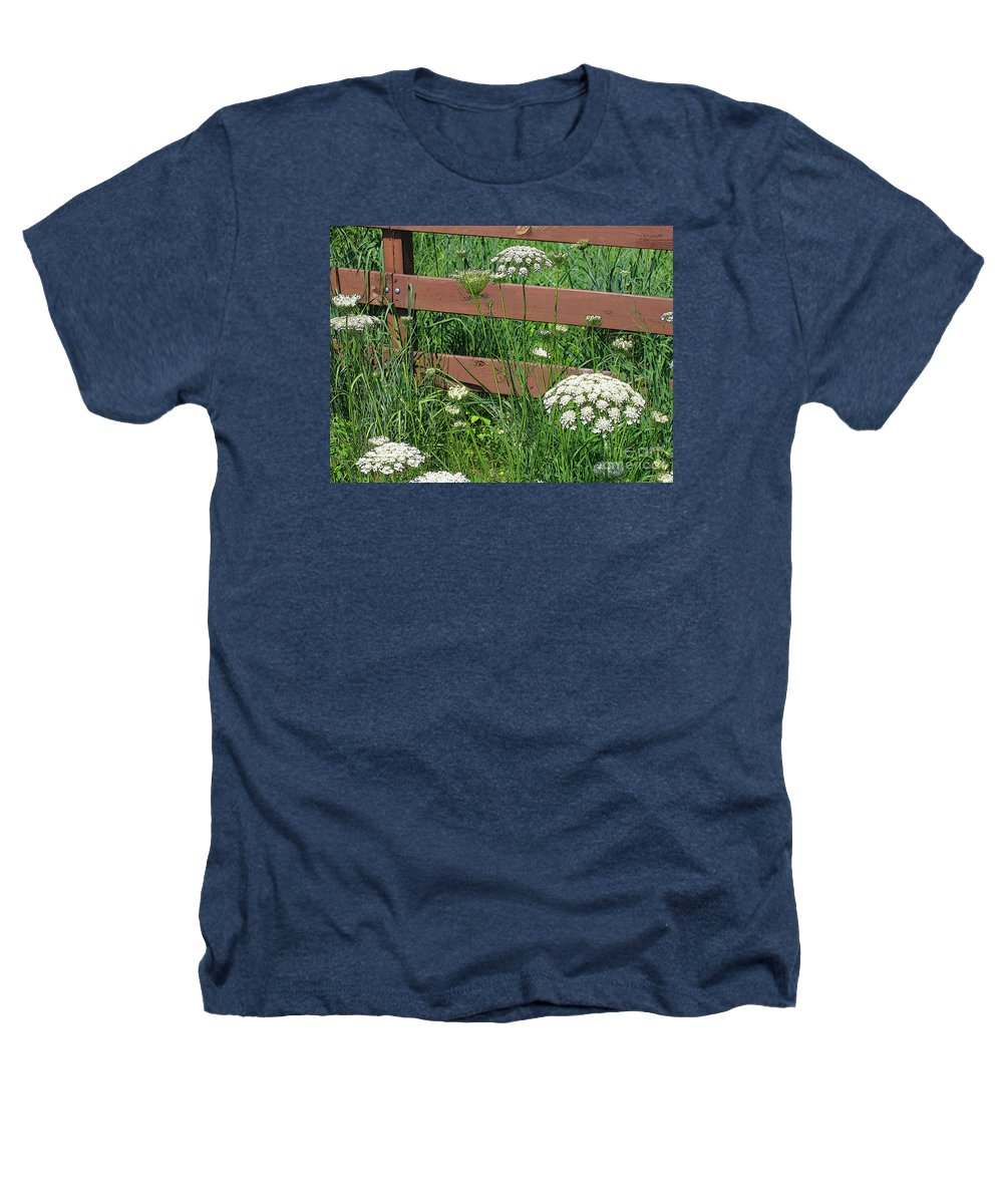 Flower Heathers T-Shirt featuring the photograph Field Of Lace by Ann Horn