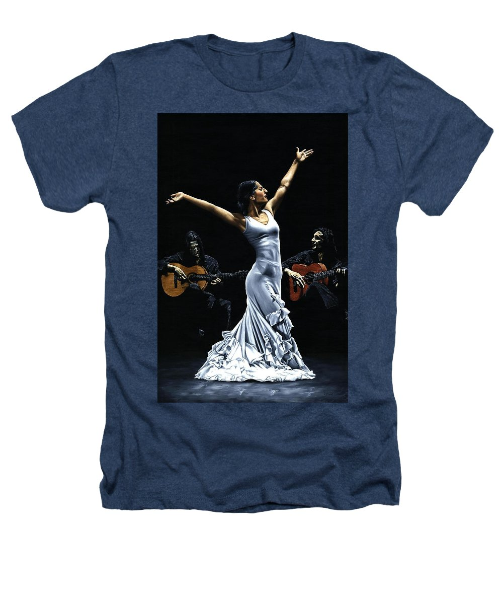 Flamenco Heathers T-Shirt featuring the painting Finale Del Funcionamiento Del Flamenco by Richard Young