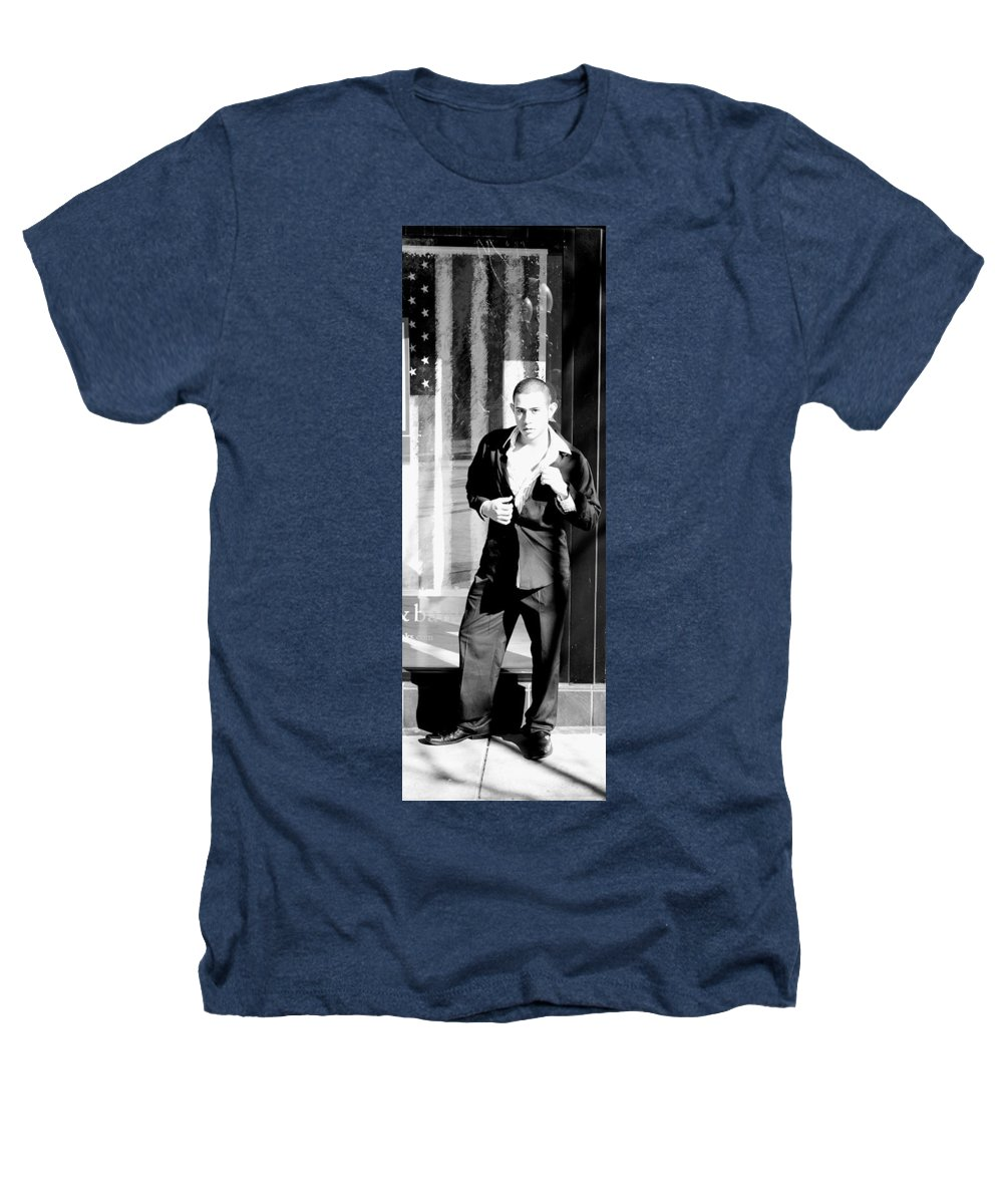 America Heathers T-Shirt featuring the photograph Fine American Model by Angus Hooper Iii