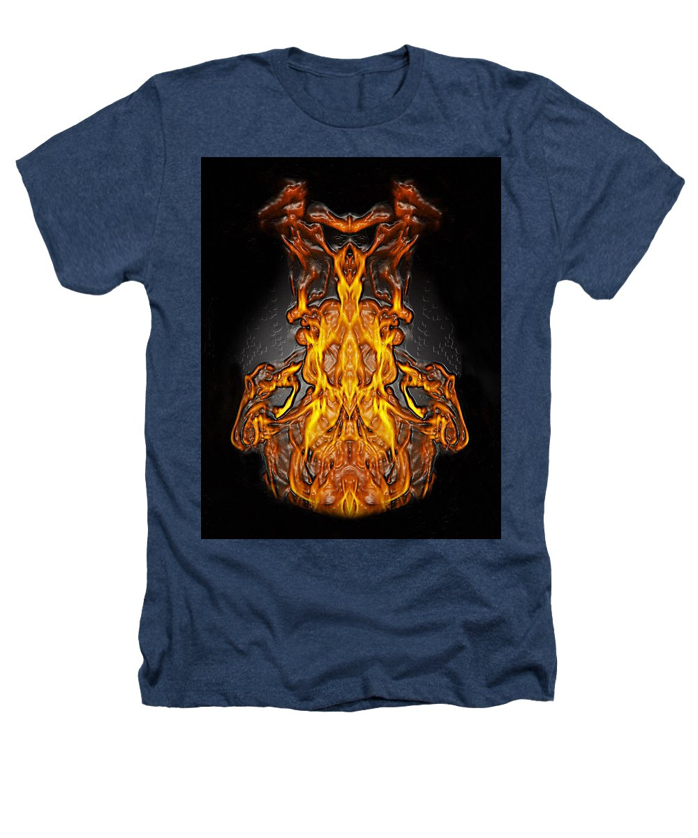 Devil Heathers T-Shirt featuring the photograph Fire Leather by Peter Piatt