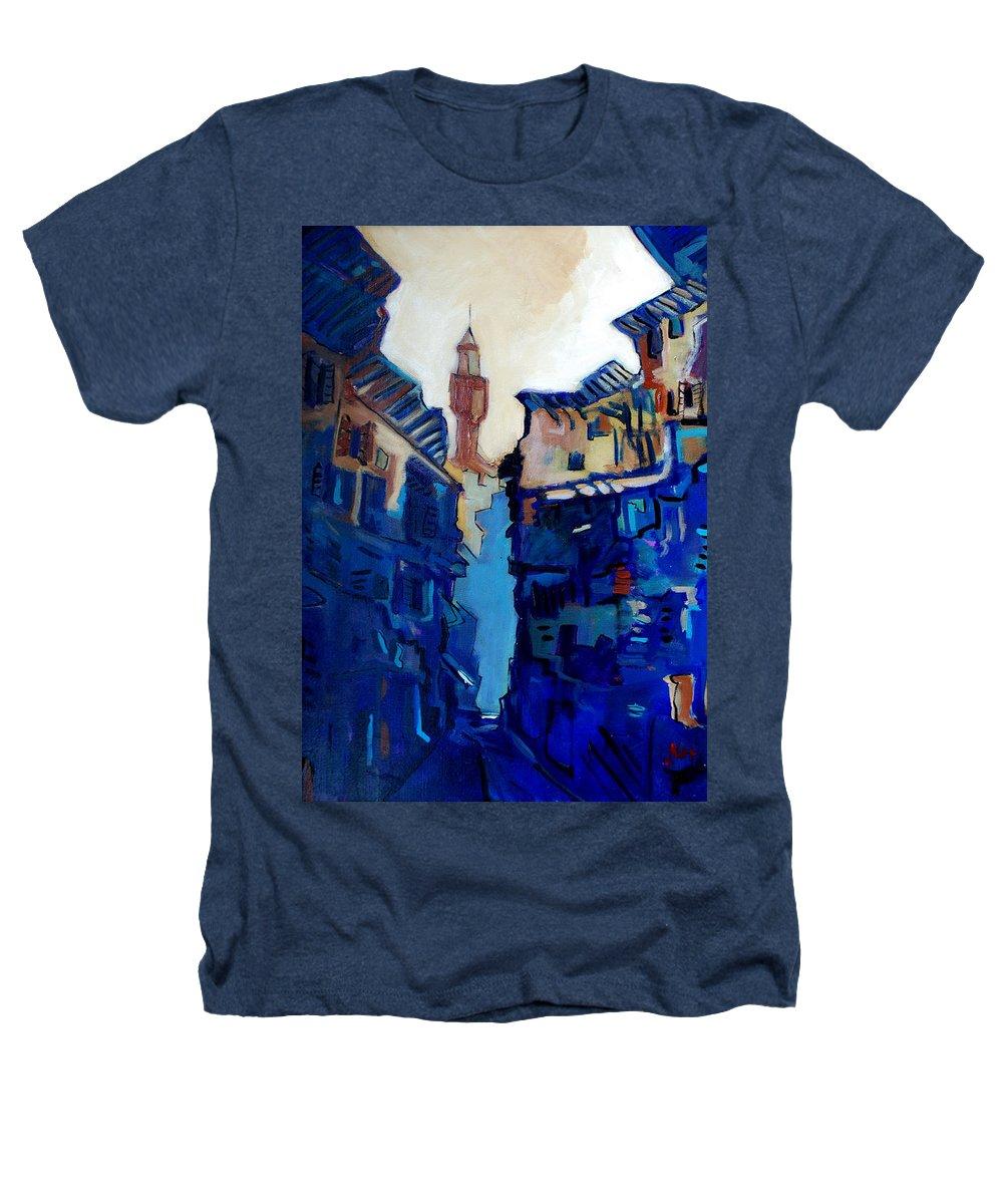 Florence Heathers T-Shirt featuring the painting Firenze Street Study by Kurt Hausmann