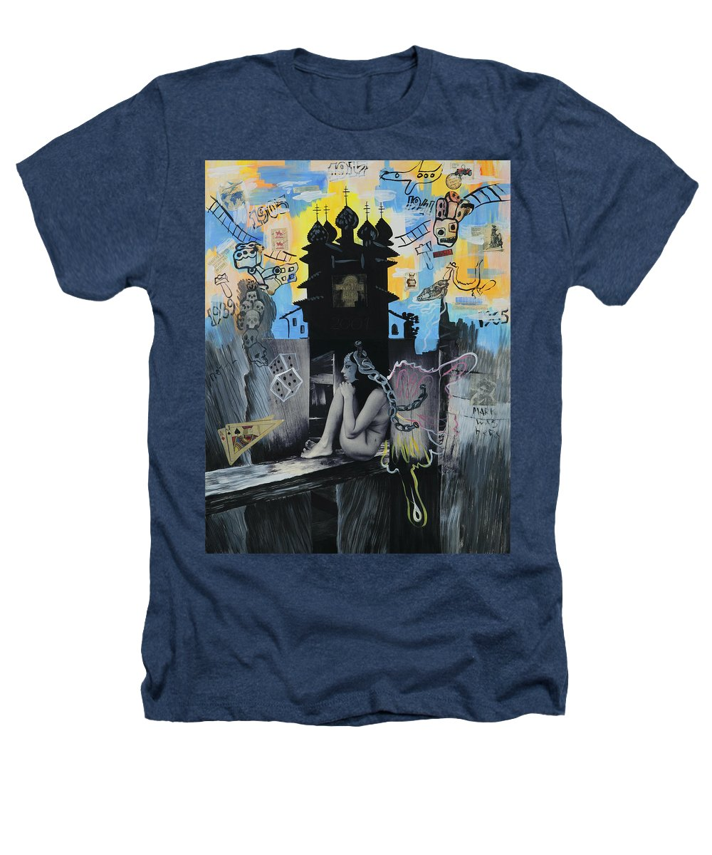 Surreal Heathers T-Shirt featuring the painting First Butterfly by Yelena Tylkina