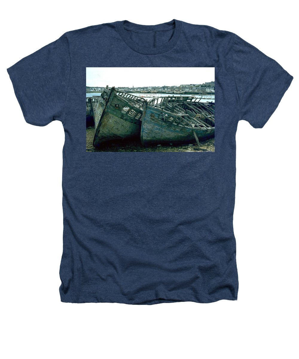 Fisher Boats Heathers T-Shirt featuring the photograph Fisher Boats by Flavia Westerwelle
