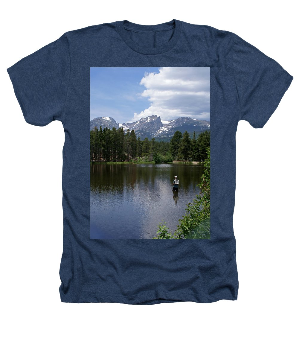 Fishing Heathers T-Shirt featuring the photograph Fishing In Colorado by Heather Coen