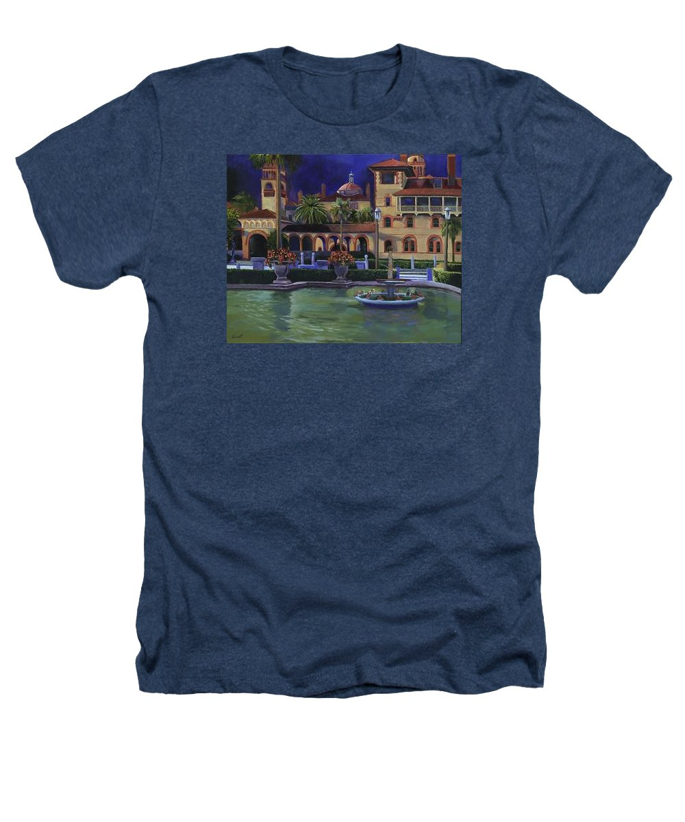 St. Augustine\'s Flagler College Campus Heathers T-Shirt featuring the painting Flagler College II by Christine Cousart