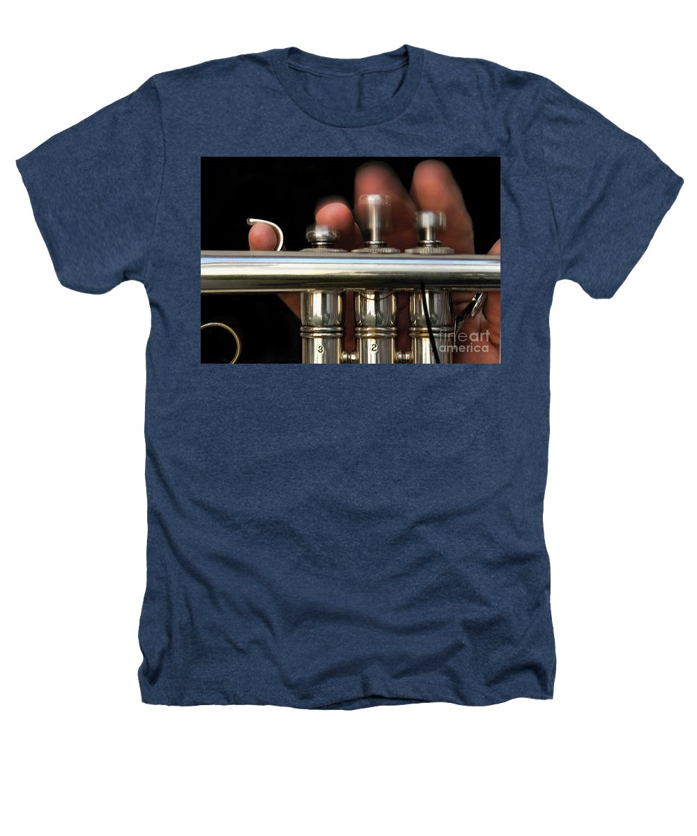 Trumpet Heathers T-Shirt featuring the photograph Flight Of The Bumblebee by Dan Holm