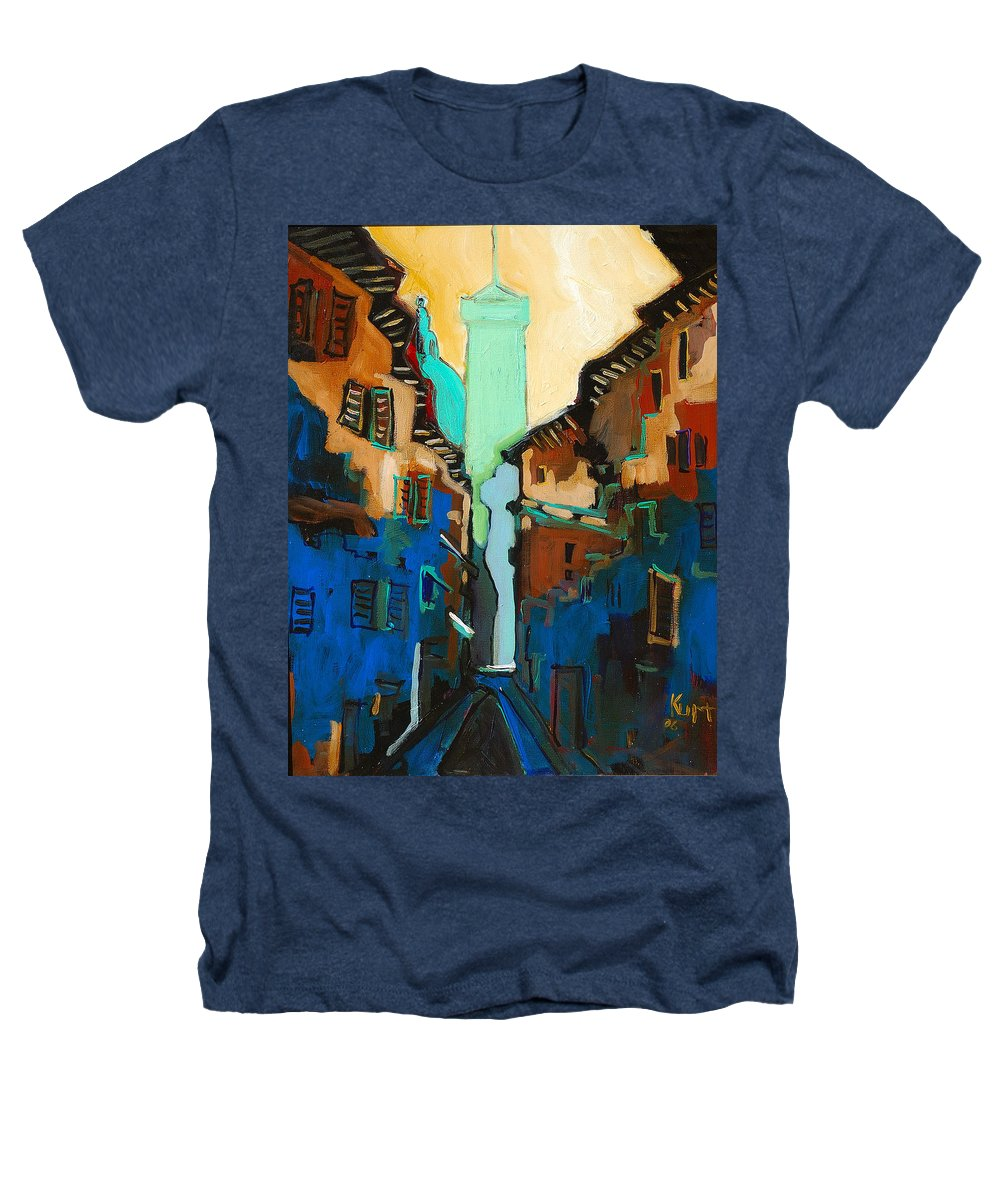 Florence Heathers T-Shirt featuring the painting Florence Street Study by Kurt Hausmann
