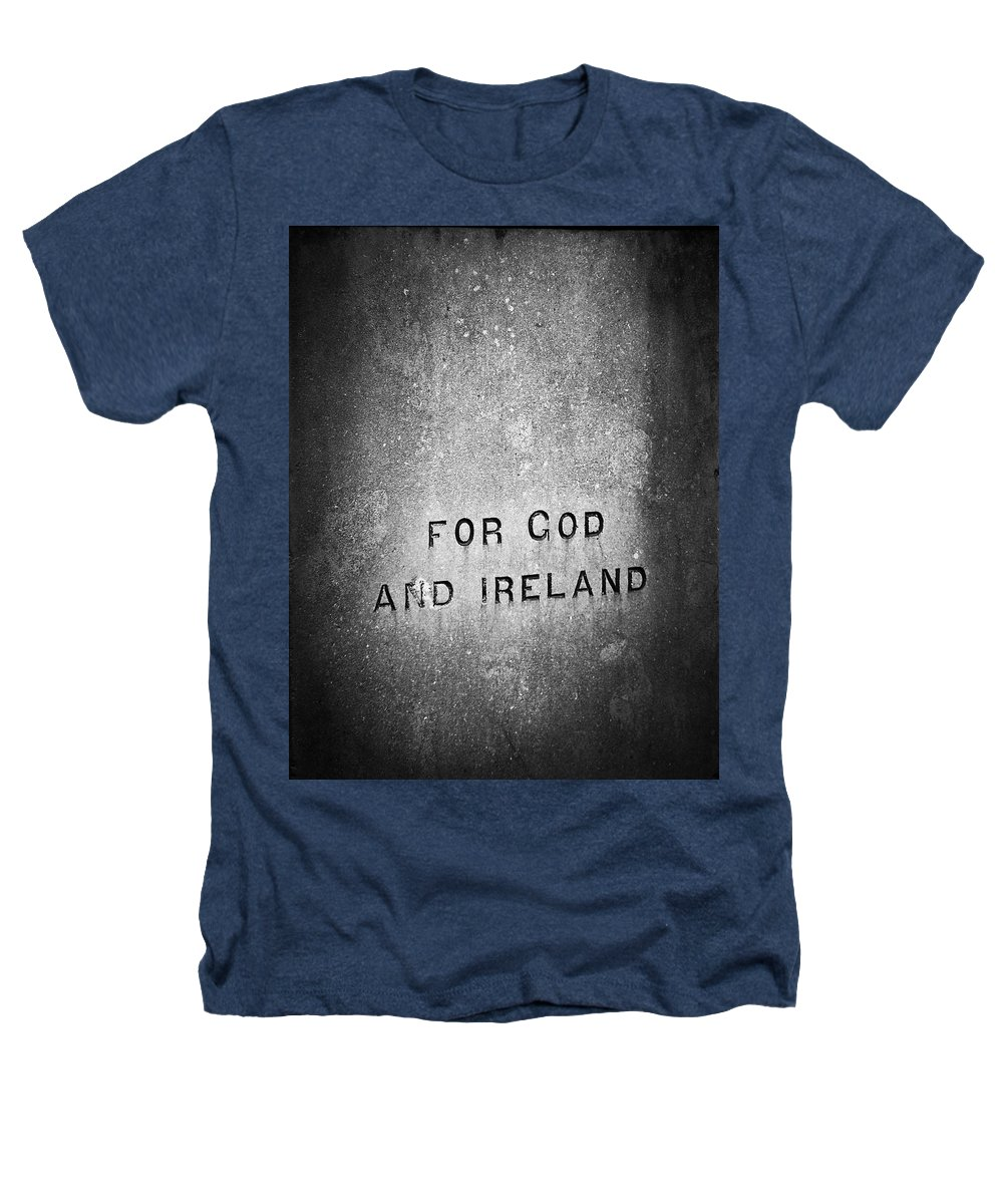 Irish Heathers T-Shirt featuring the photograph For God And Ireland Macroom Ireland by Teresa Mucha