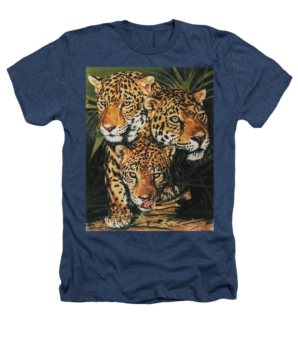 Jaguar Heathers T-Shirt featuring the pastel Forest Jewels by Barbara Keith