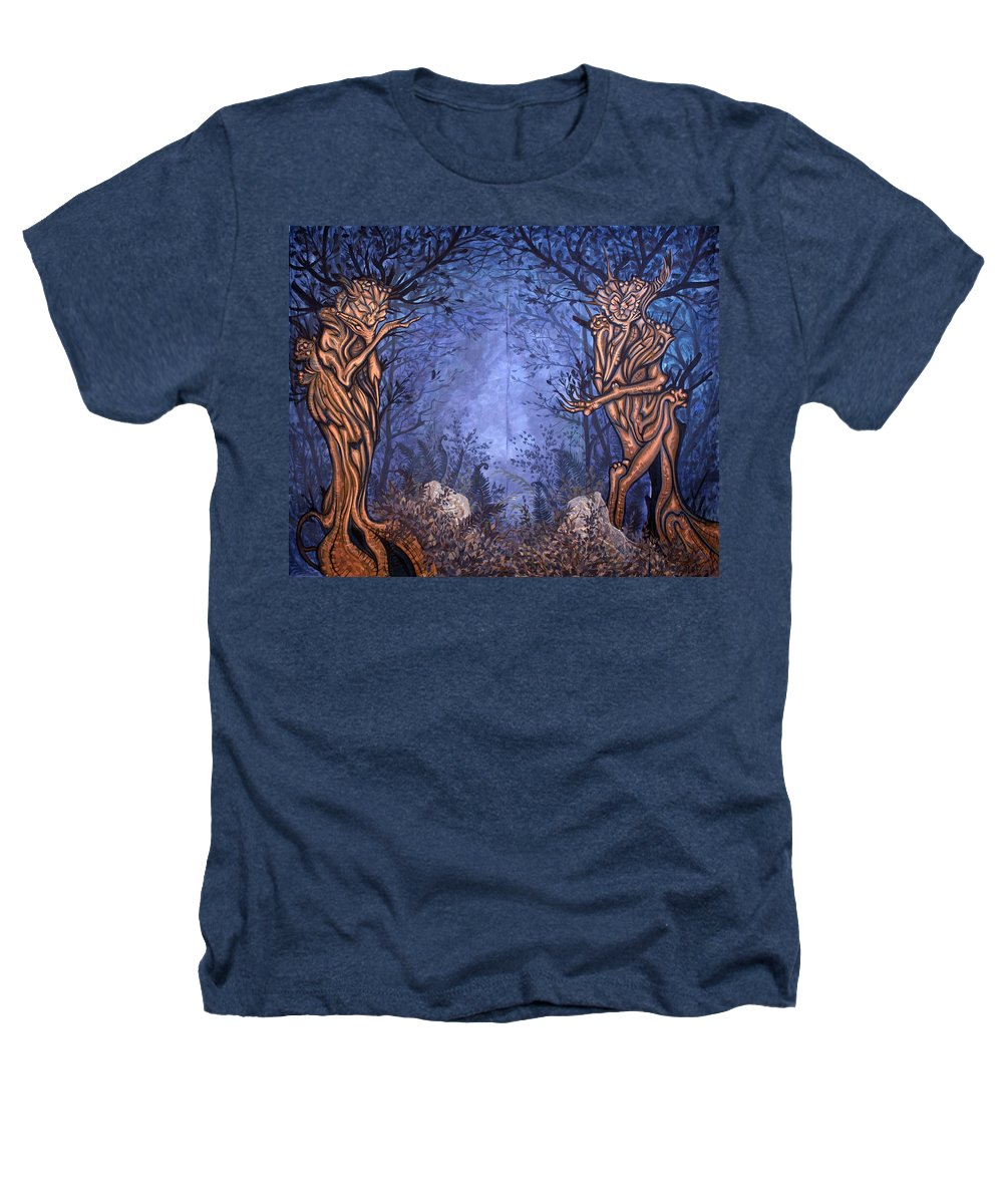 Mystic Heathers T-Shirt featuring the painting Forest by Judy Henninger