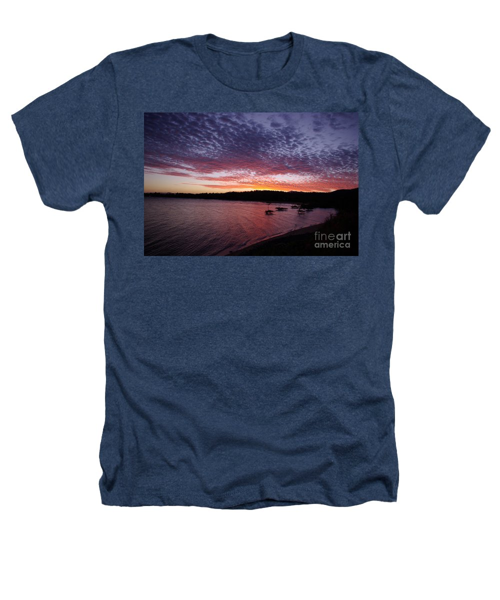Landscape Heathers T-Shirt featuring the photograph Four Elements Sunset Sequence 1 Coconuts Qld by Kerryn Madsen - Pietsch