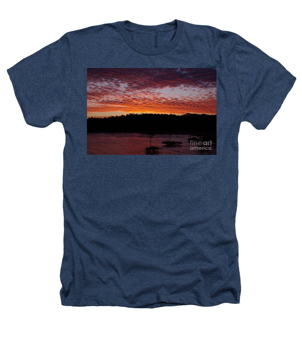 Landscape Heathers T-Shirt featuring the photograph Four Elements Sunset Sequence 2 Coconuts Qld by Kerryn Madsen - Pietsch
