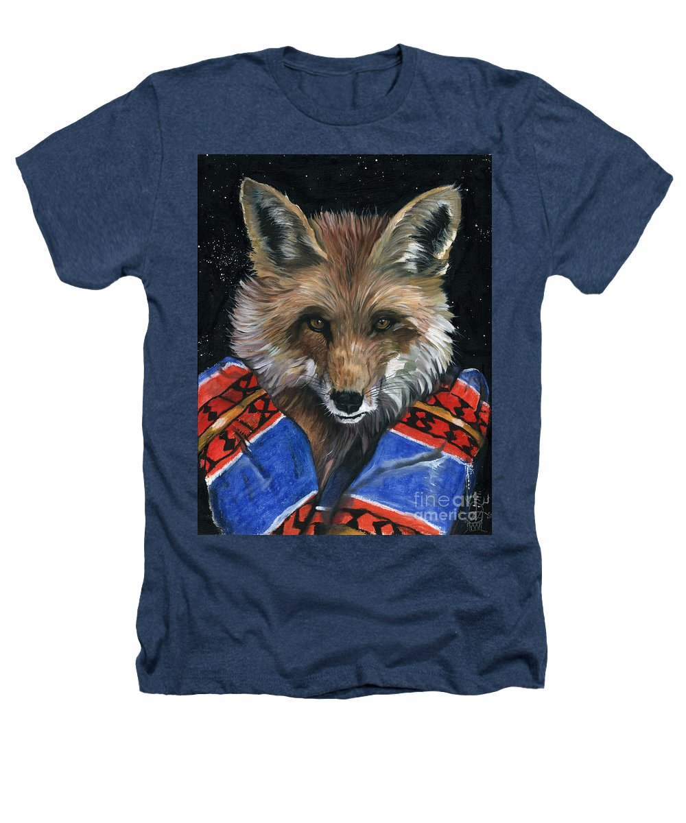 Fox Heathers T-Shirt featuring the painting Fox Medicine by J W Baker