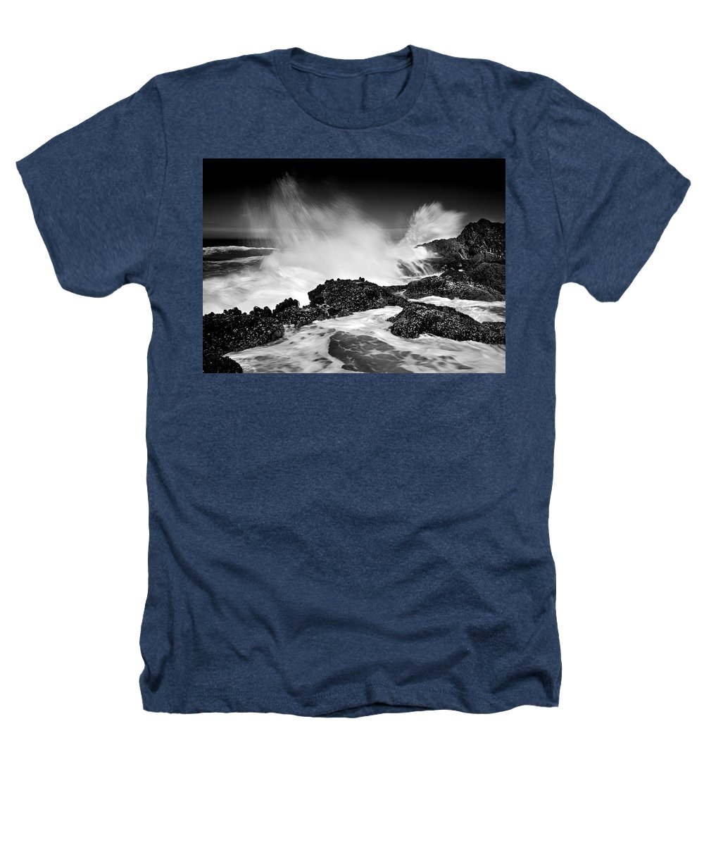 Waves Heathers T-Shirt featuring the photograph Fury by Mike Dawson