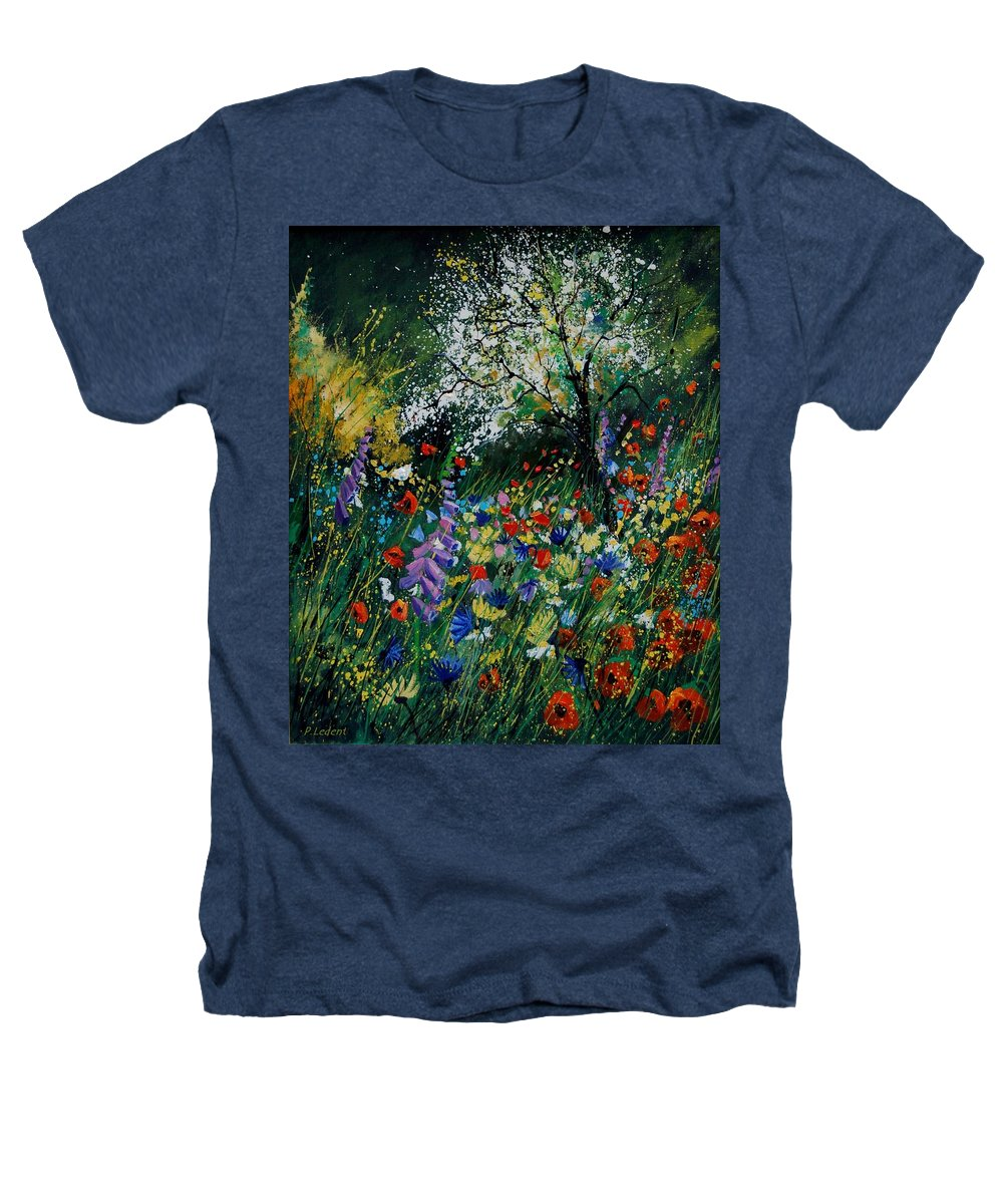 Flowers Heathers T-Shirt featuring the painting Garden Flowers by Pol Ledent