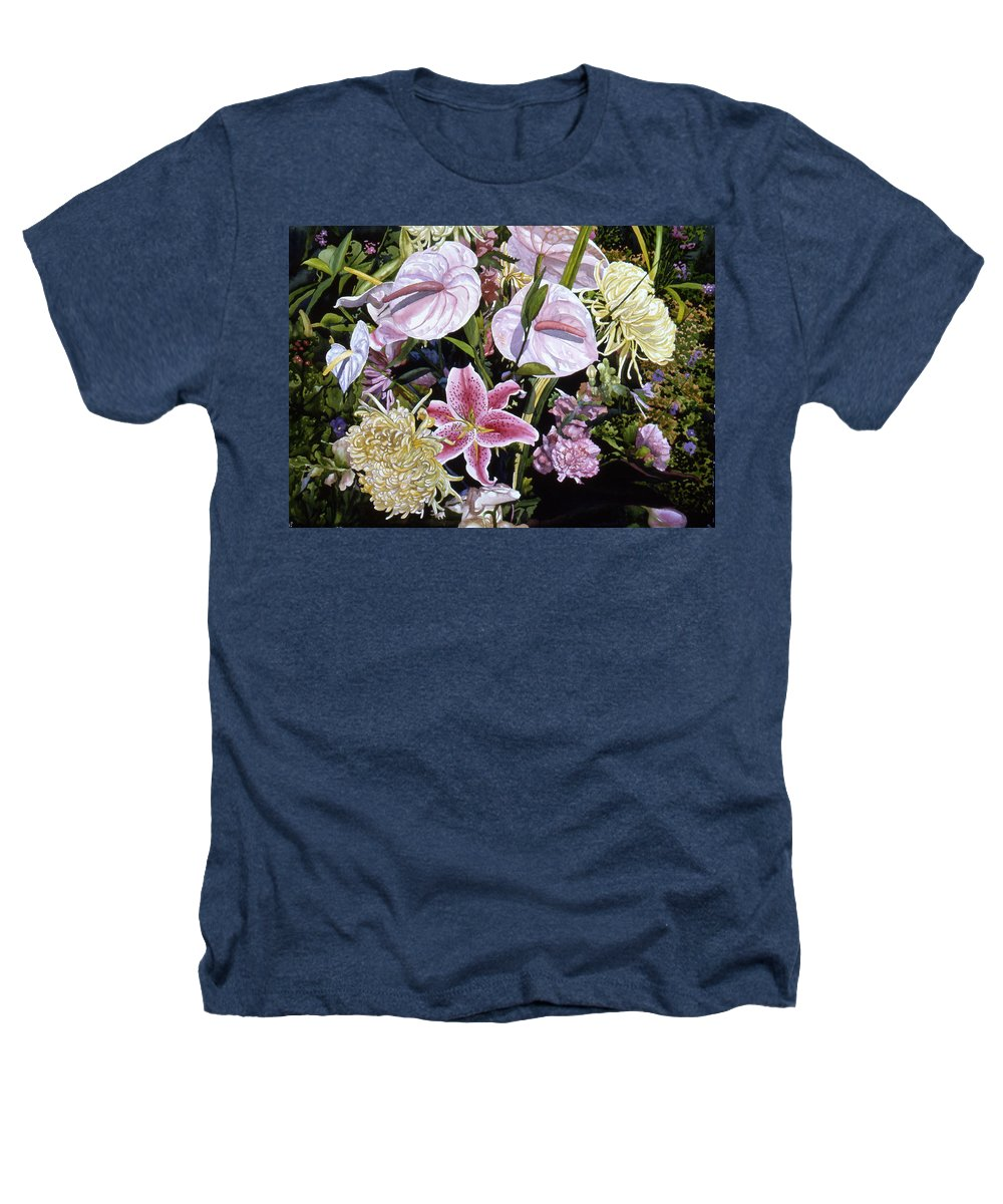 Watercolor Heathers T-Shirt featuring the painting Garden Song by Teri Starkweather