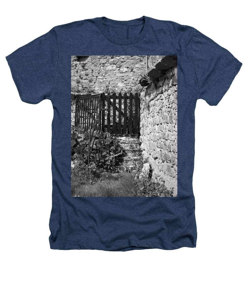 Irish Heathers T-Shirt featuring the photograph Gate At Dunguaire Castle Kinvara Ireland by Teresa Mucha