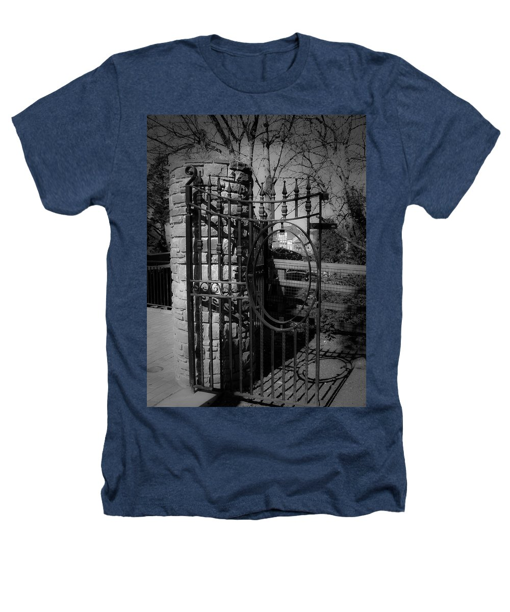 Irish Heathers T-Shirt featuring the photograph Gate In Macroom Ireland by Teresa Mucha