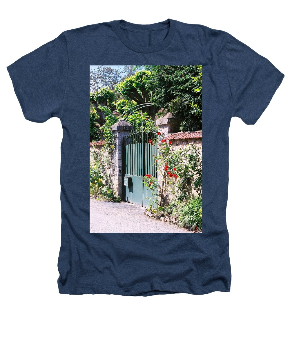 Giverny Heathers T-Shirt featuring the photograph Giverny Gate by Nadine Rippelmeyer