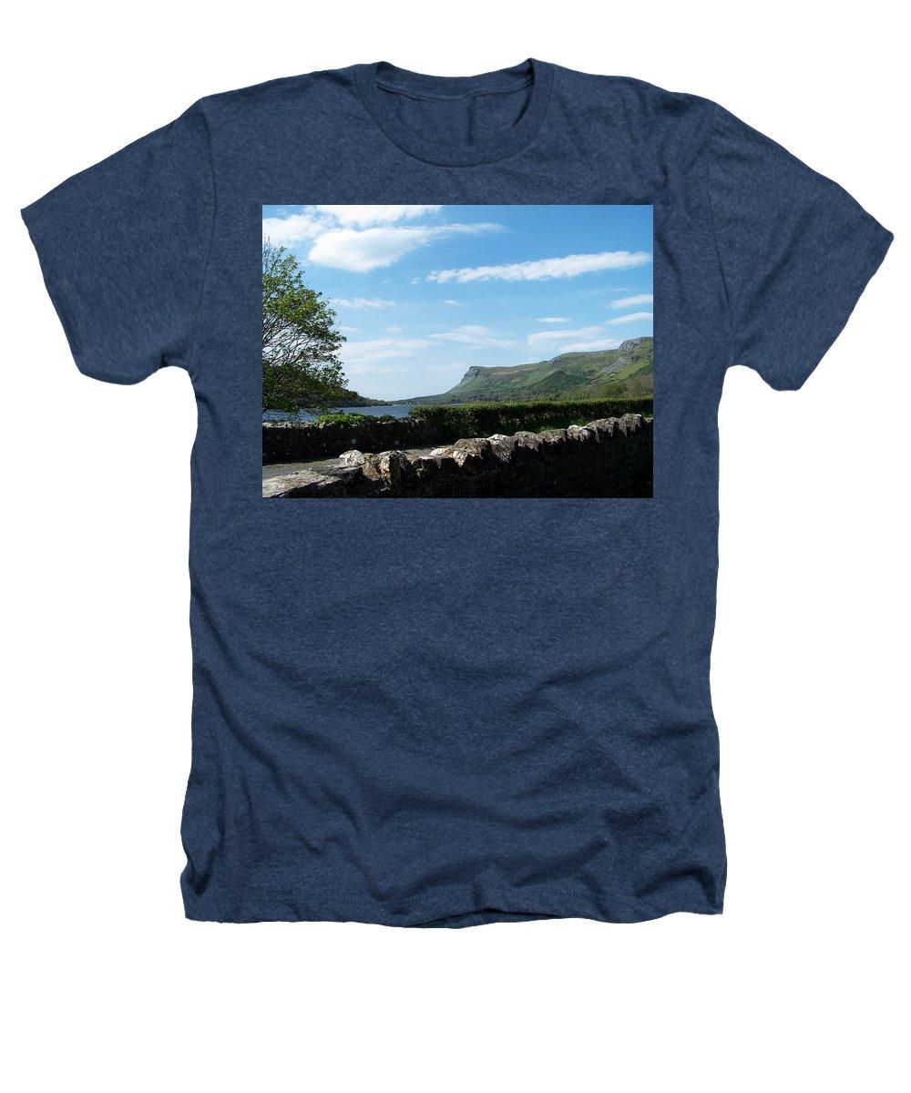 Irish Heathers T-Shirt featuring the photograph Glencar Lake With View Of Benbulben Ireland by Teresa Mucha