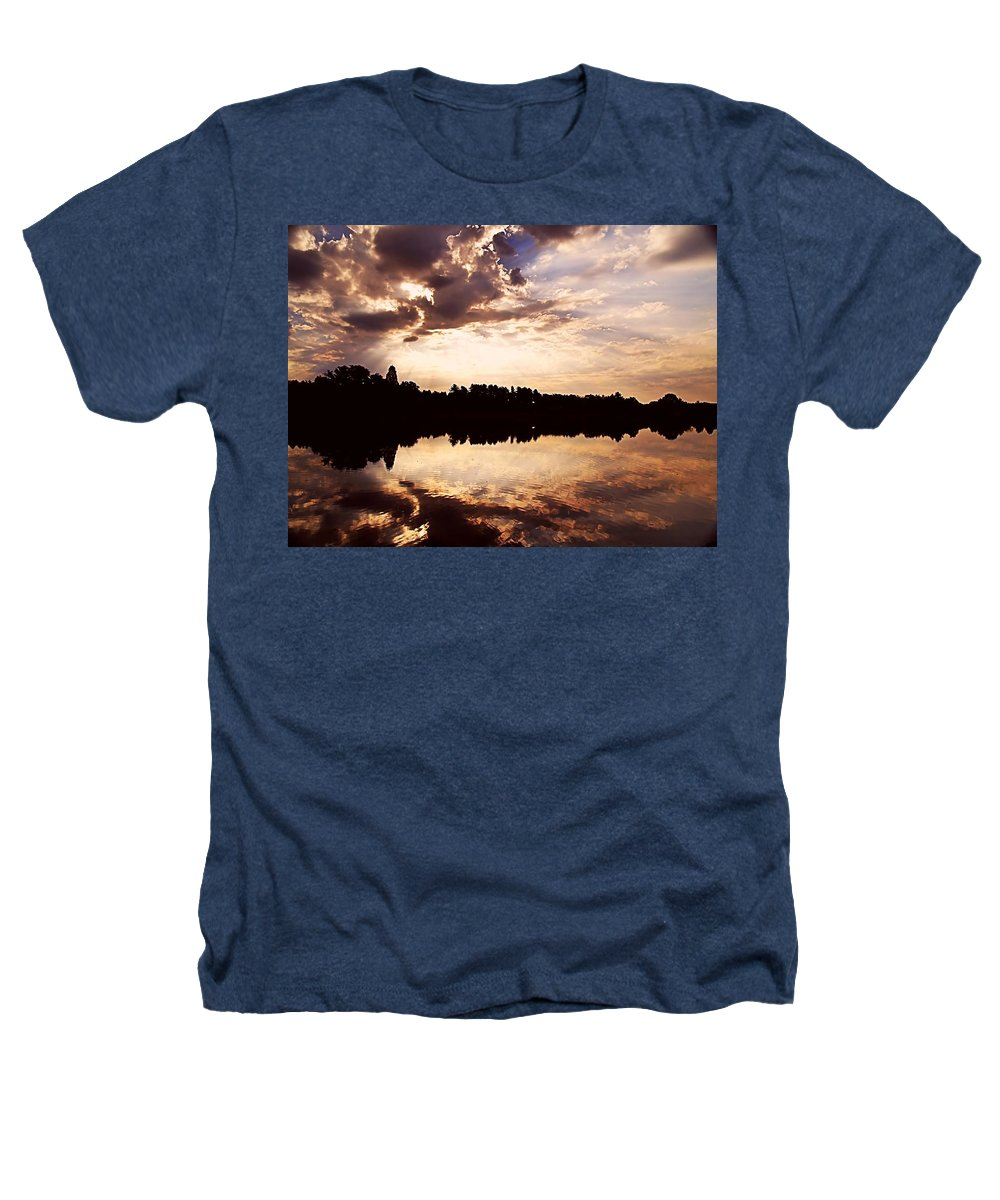 Sunrise Heathers T-Shirt featuring the photograph Glorious Moments by Gaby Swanson
