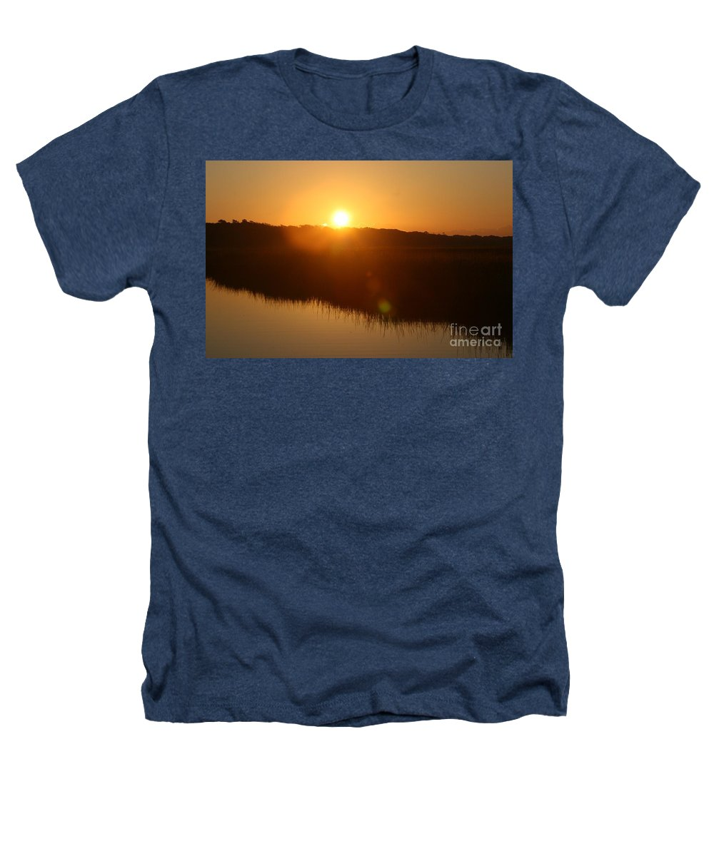 Glow Heathers T-Shirt featuring the photograph Gold Morning by Nadine Rippelmeyer