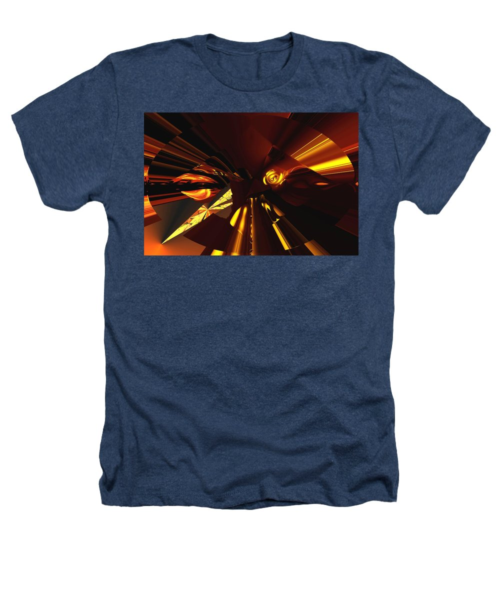 Abstract Heathers T-Shirt featuring the digital art Golden Brown Abstract by David Lane