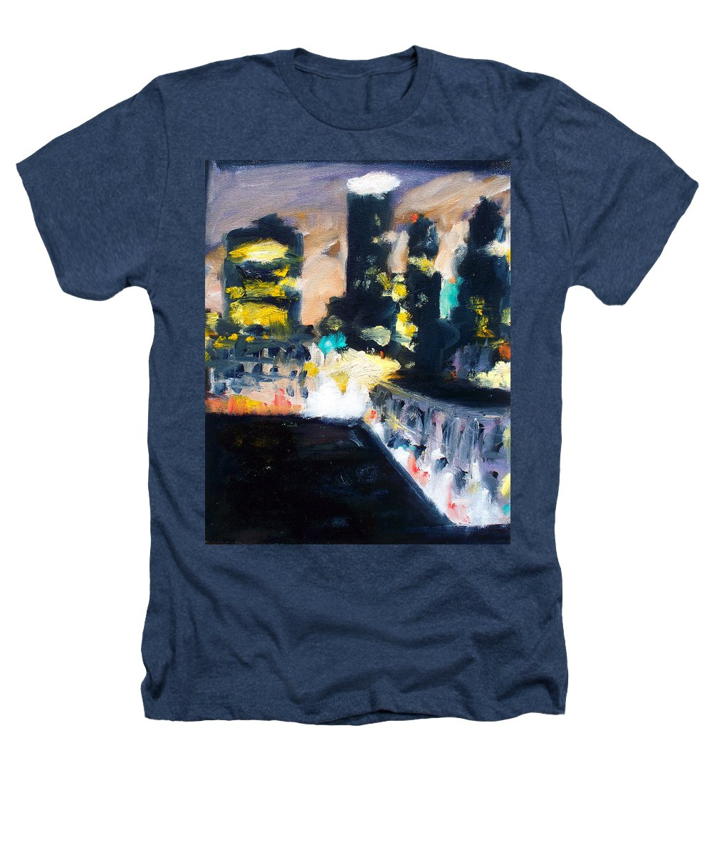 Des Moines Heathers T-Shirt featuring the painting Gotham by Robert Reeves