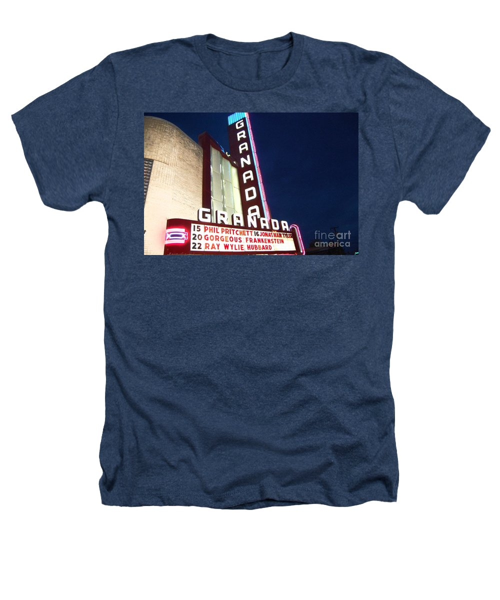Music Heathers T-Shirt featuring the photograph Granada Theater by Debbi Granruth