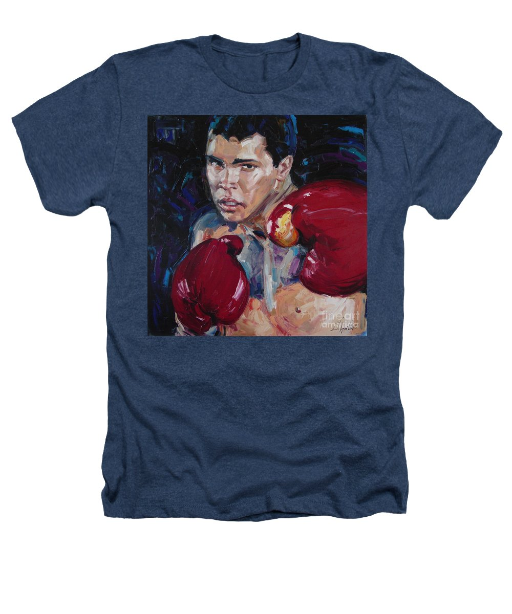 Figurative Heathers T-Shirt featuring the painting Great Ali by Sergey Ignatenko