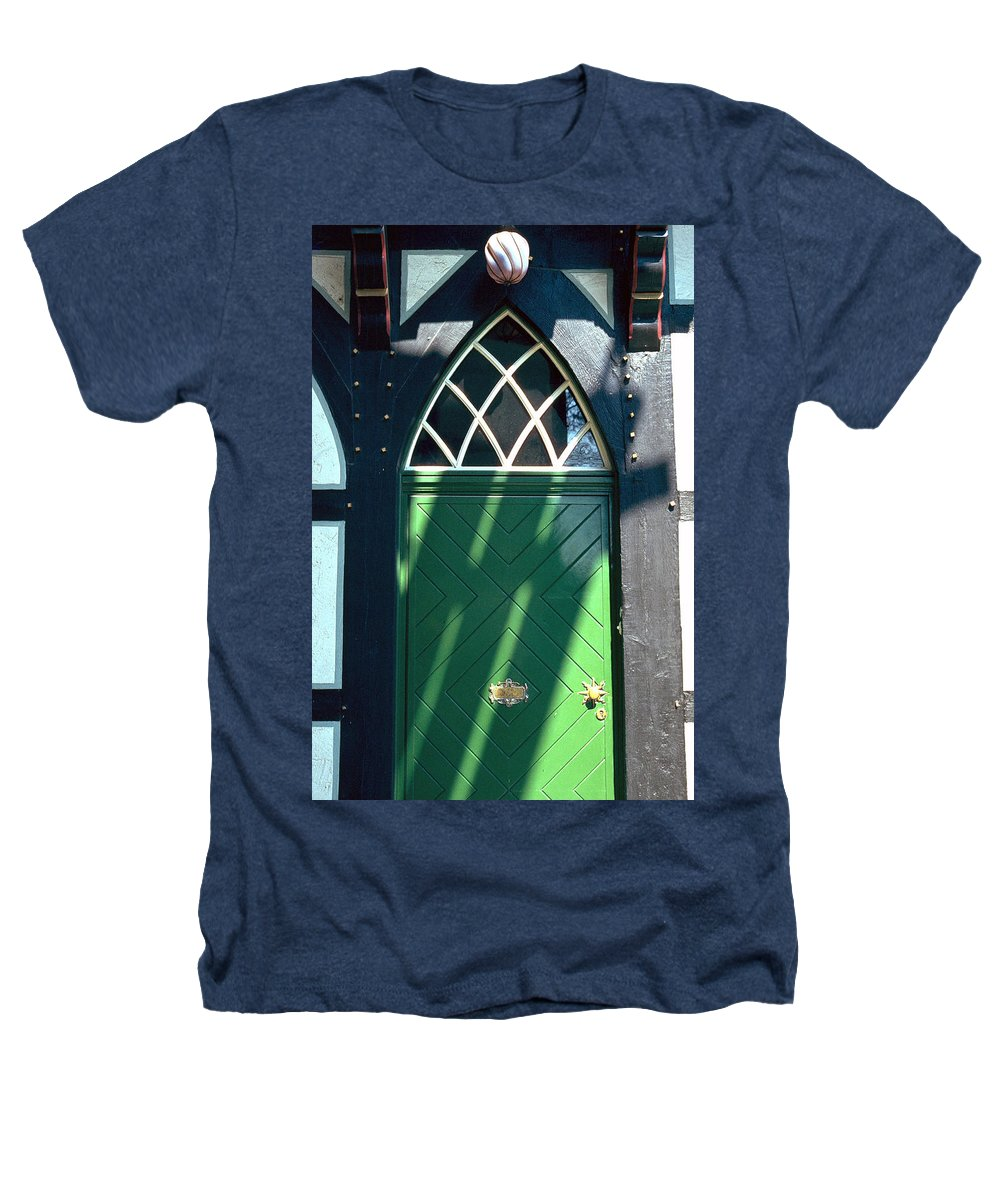 Green Heathers T-Shirt featuring the photograph Green Door by Flavia Westerwelle