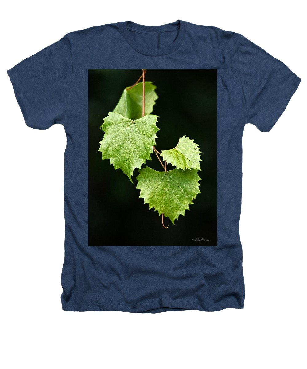 Flora Heathers T-Shirt featuring the photograph Green Leaves by Christopher Holmes