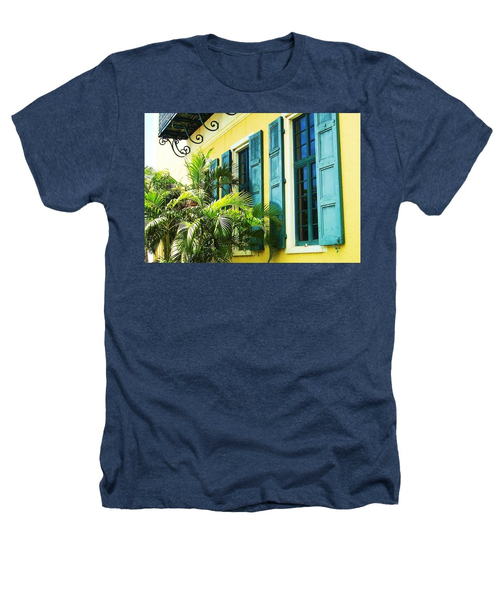 Architecture Heathers T-Shirt featuring the photograph Green Shutters by Debbi Granruth