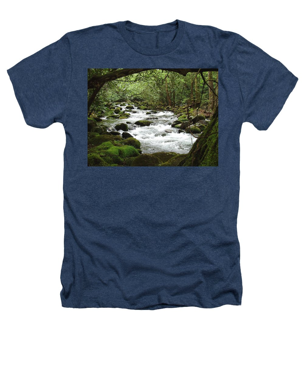 Smoky Mountains Heathers T-Shirt featuring the photograph Greenbrier River Scene 2 by Nancy Mueller