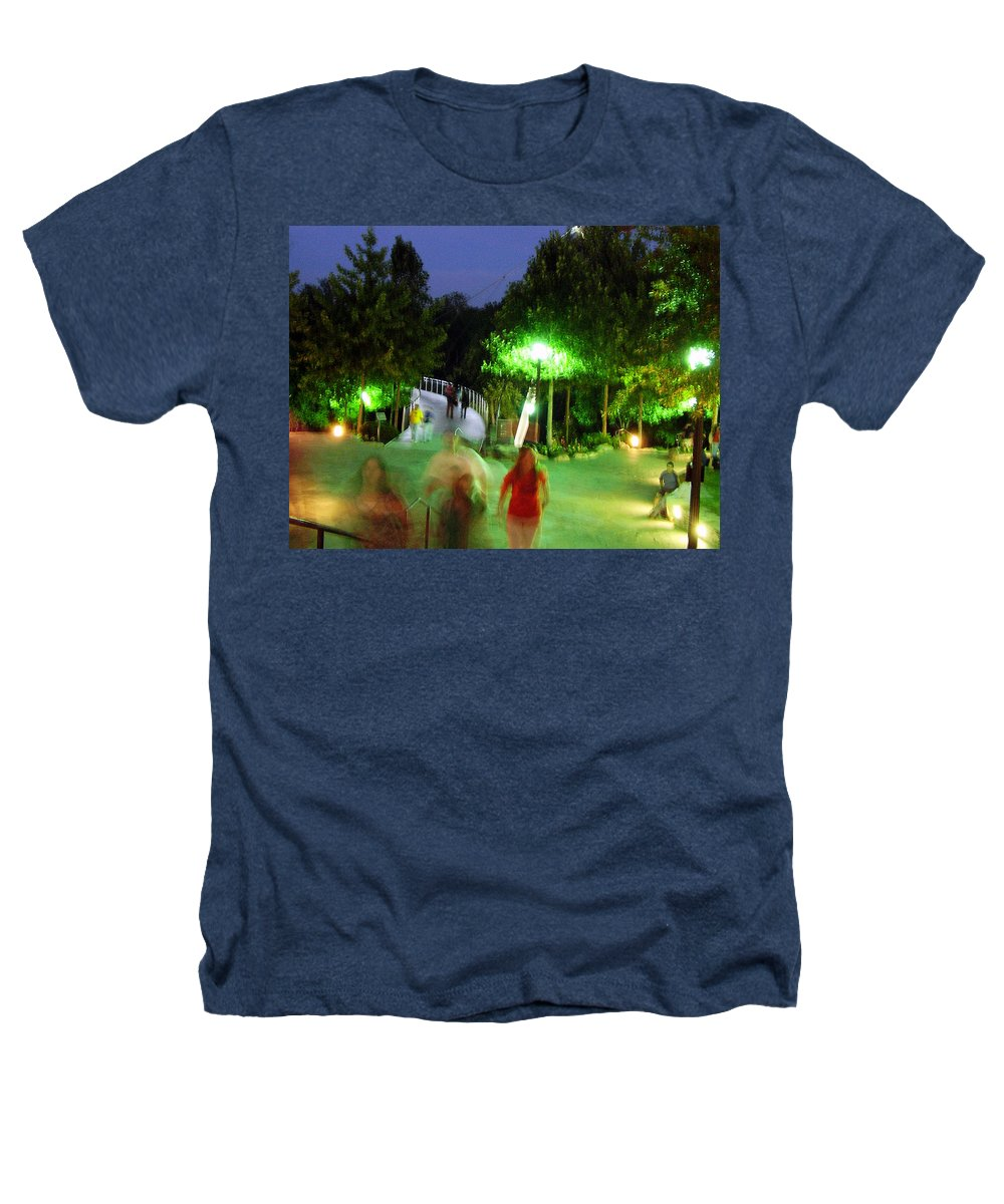 Falls Park Heathers T-Shirt featuring the photograph Greenville At Night by Flavia Westerwelle