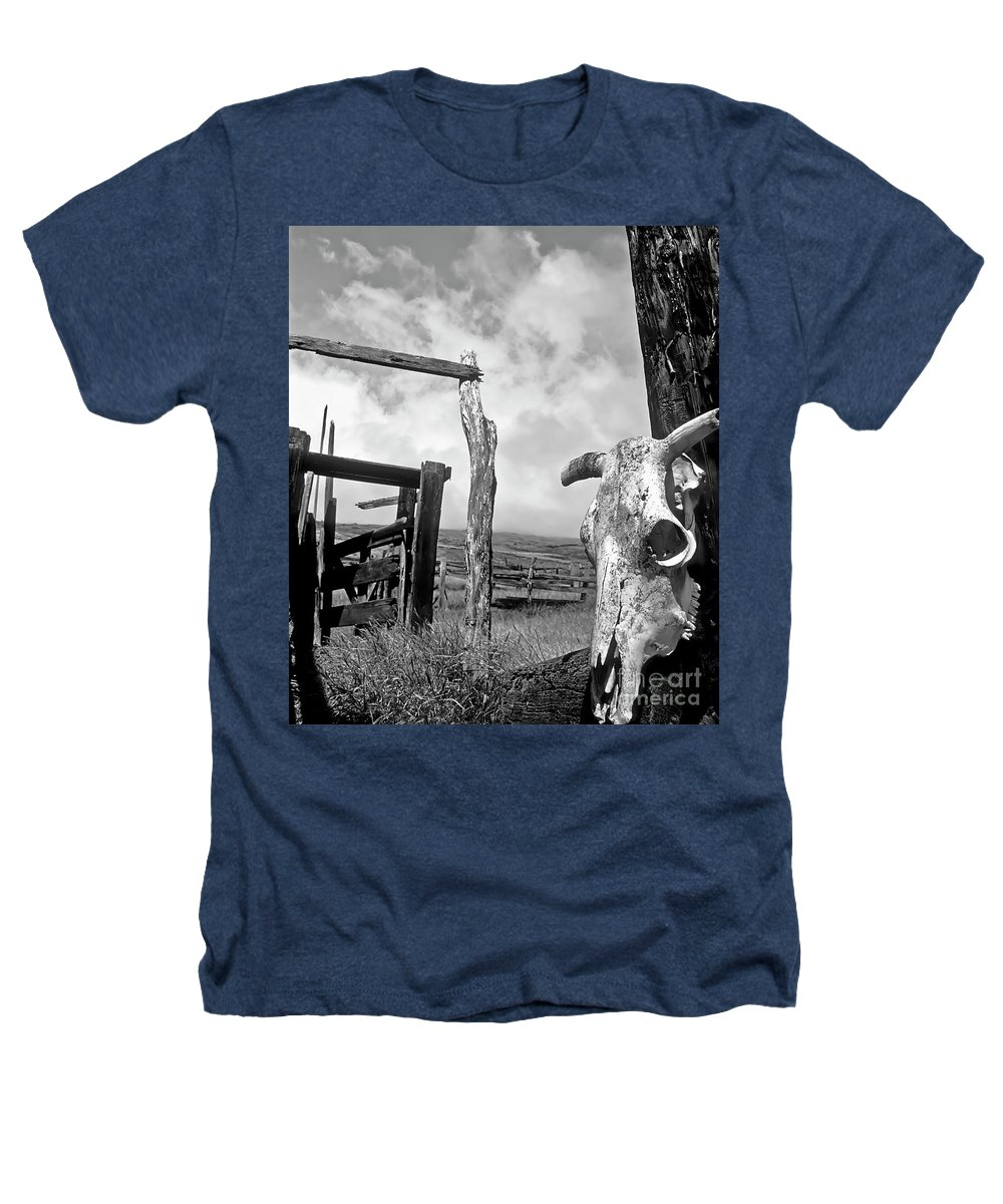 Black And White Heathers T-Shirt featuring the photograph Guardian Spirit by Jim Cazel