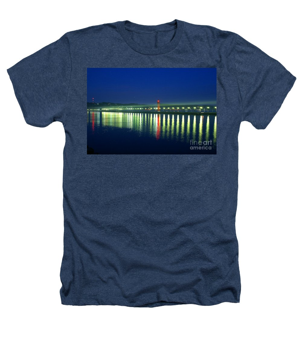 Pier Heathers T-Shirt featuring the photograph Guiding Light by Robert Pearson