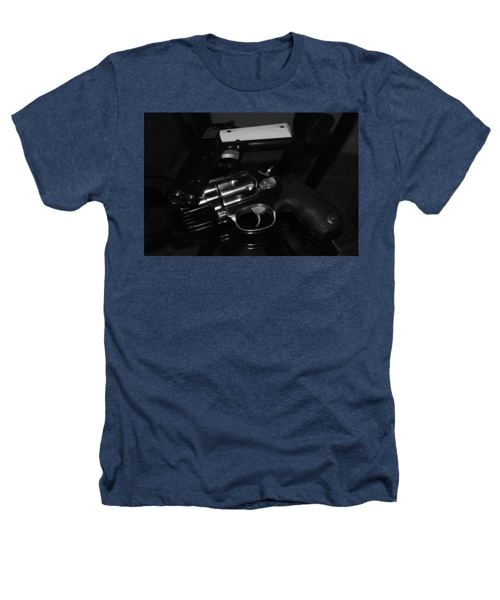 Guns Heathers T-Shirt featuring the photograph Guns And More Guns by Rob Hans