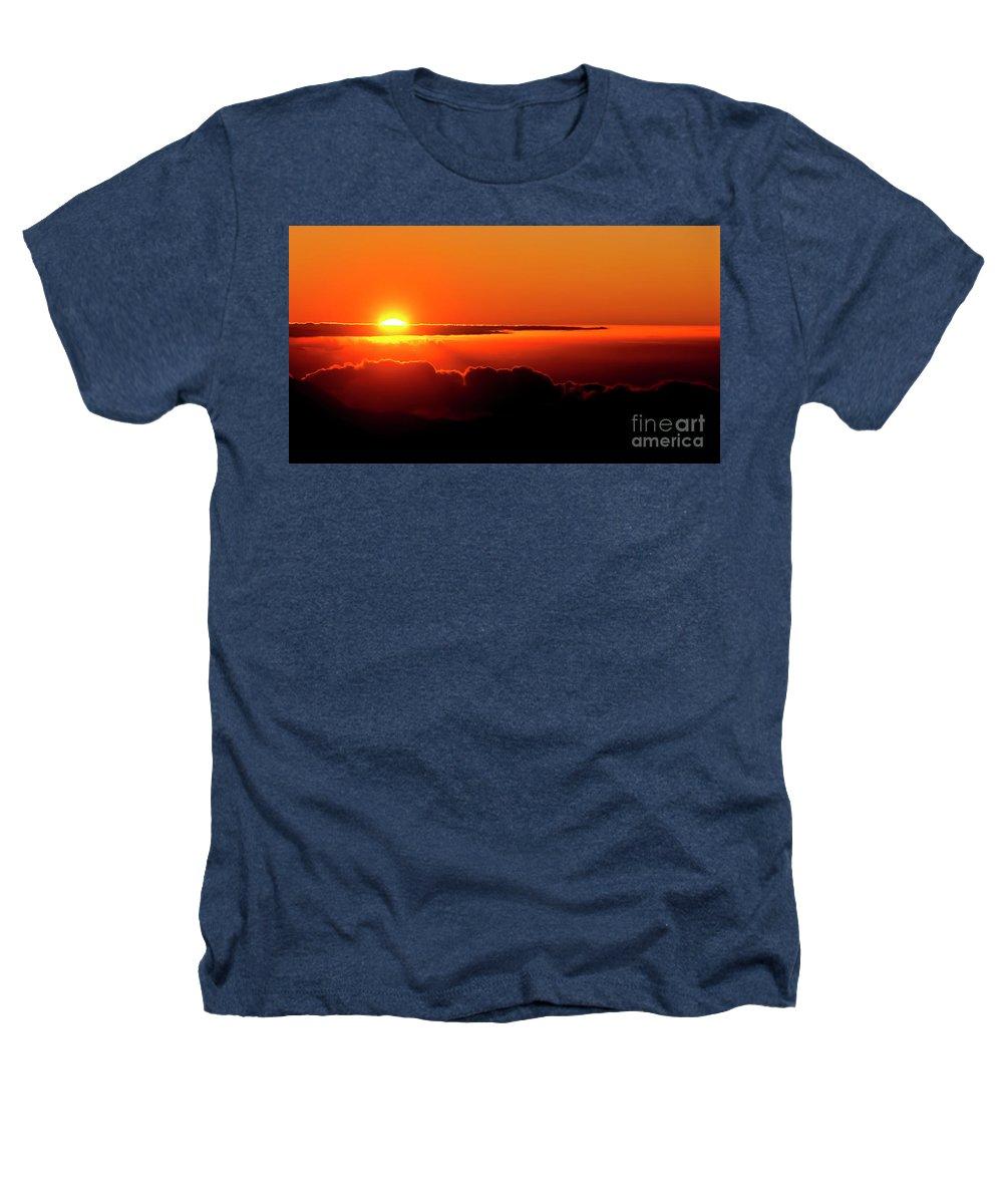 Sunrise Heathers T-Shirt featuring the photograph Maui Hawaii Haleakala National Park Sunrise IIi by Jim Cazel
