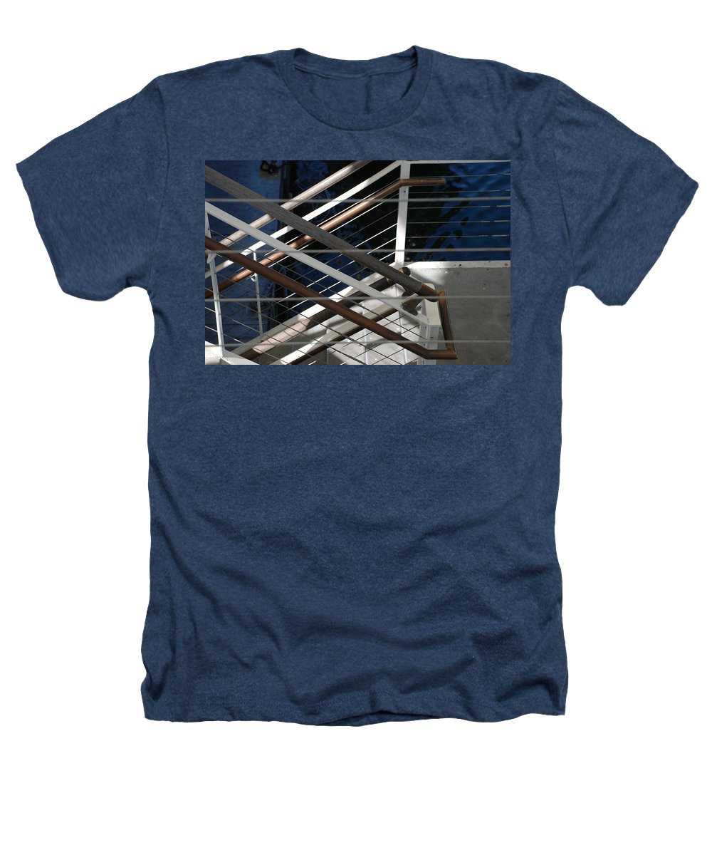 Water Heathers T-Shirt featuring the photograph Hand Rails by Rob Hans