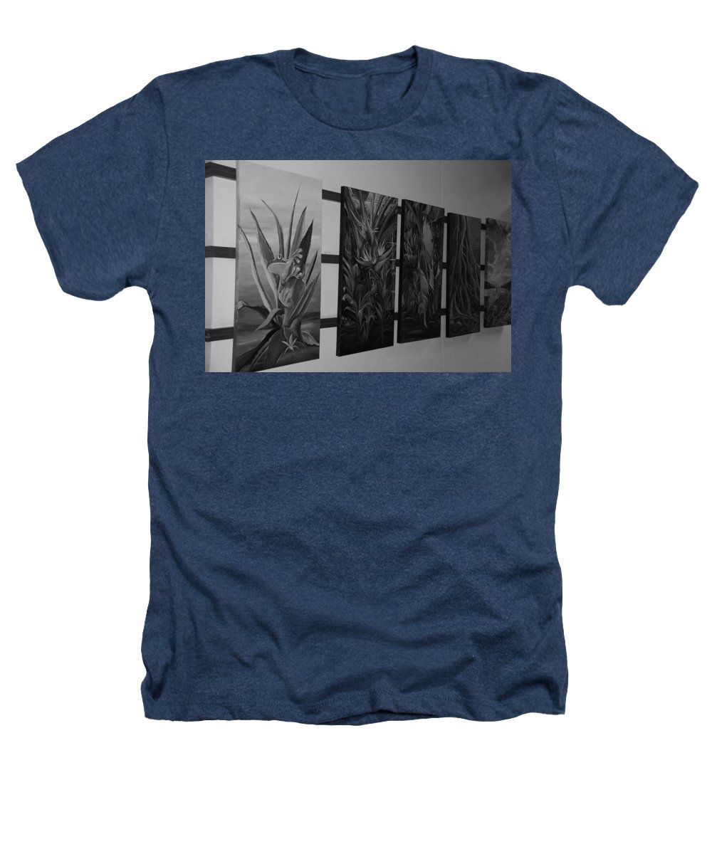 Black And White Heathers T-Shirt featuring the photograph Hanging Art by Rob Hans