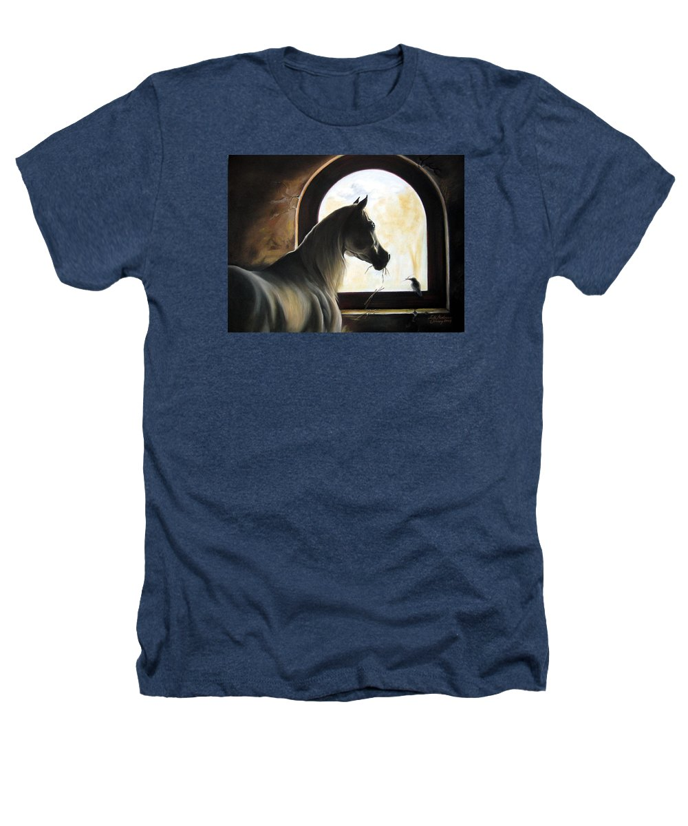 Heathers T-Shirt featuring the painting Helping by Leyla Munteanu
