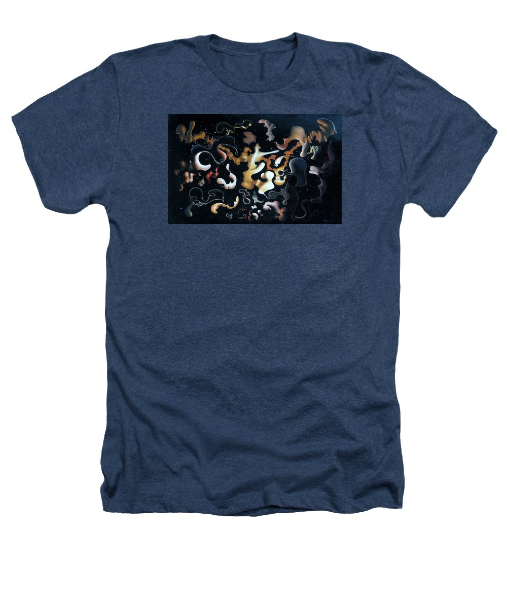 Abstract Heathers T-Shirt featuring the painting Herculean Construction by Dave Martsolf
