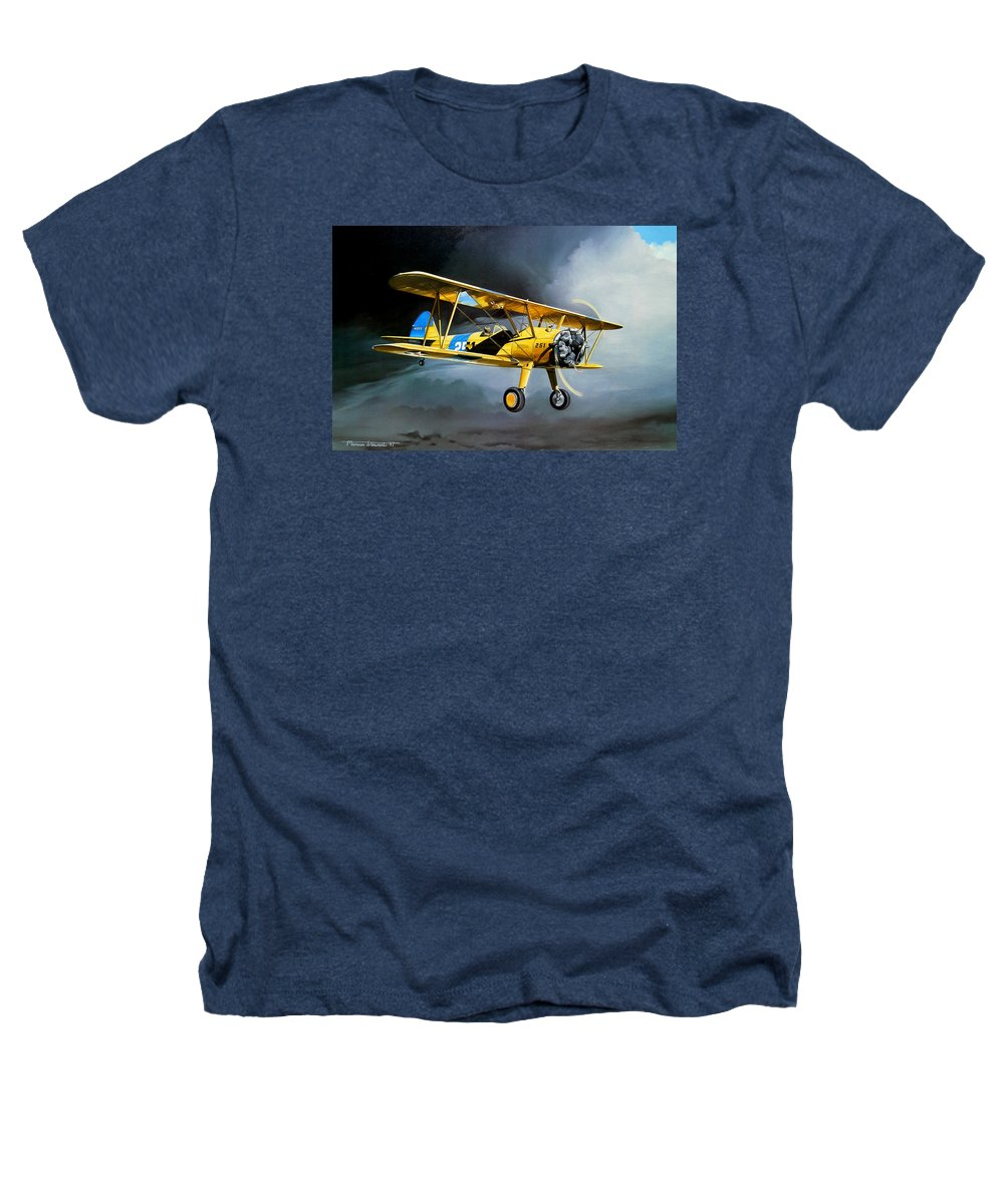 Military Heathers T-Shirt featuring the painting Here Comes The Sun by Marc Stewart