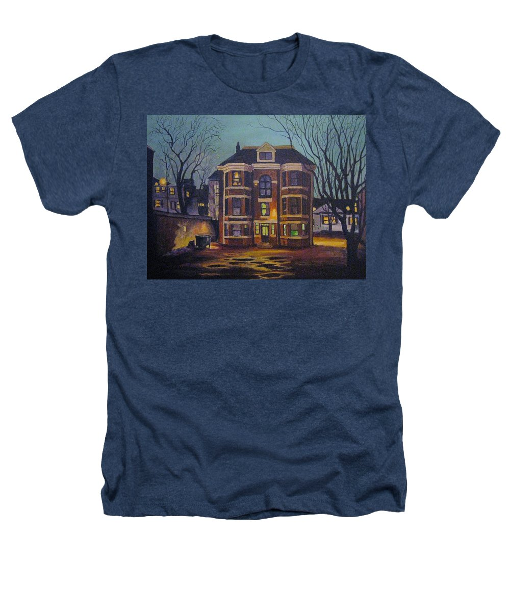 Moody Heathers T-Shirt featuring the painting Historic Property South End Haifax by John Malone