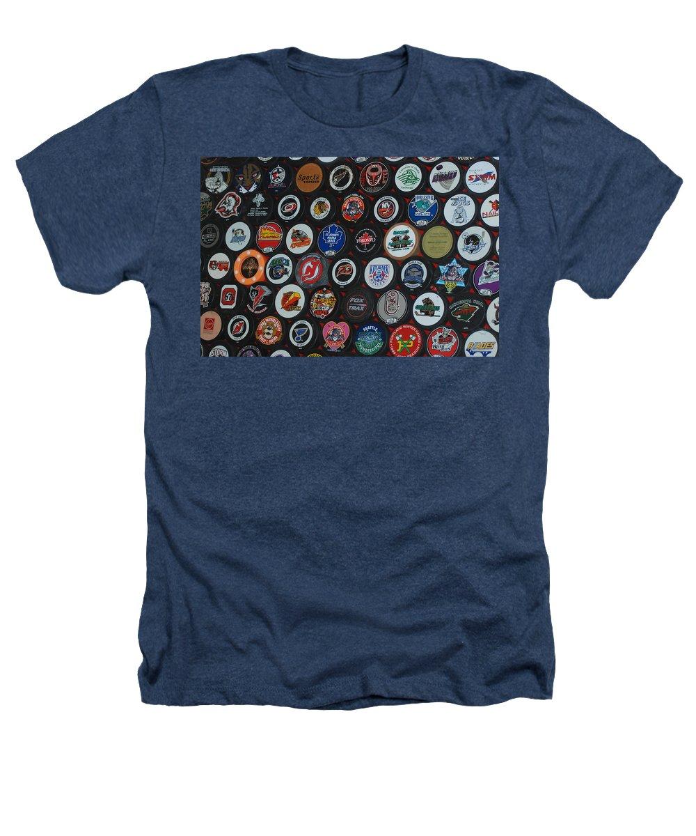Pop Art Heathers T-Shirt featuring the photograph Hockey Pucks by Rob Hans